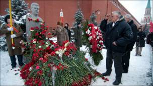 День рождения Сталина - возложение цветов на Красной площади