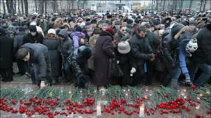 Траур по жертвам взрыва