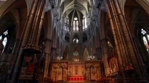 لندن- په لندن کې د ویسټمنسټر هغه کلیسا چې د شهزاده ویلیم او کیت میدلټن د واده مراسم به په کې ترسره کېږي.