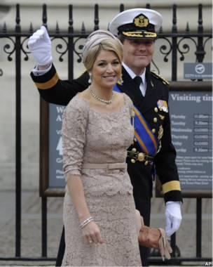 Нидерландский принц Его королевское Высочество Виллем-Александр и принцесса Максима