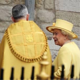 Елизавета II c настоятелем Вестминстера