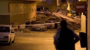 Обрушившееся здание в Лорке