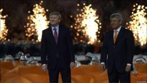 Президент клубу Рінат Ахметов разом з головним тренером команди Мірча Луческу.