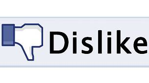 """I do not like"" button on Facebook"