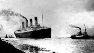 """""""Титаник"""" выходит из Саутгемптона"""