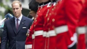 د شهزاده ویلیم هرکلي ته د کاناډا د شاهي پوځ ۲۲ غړي لاس په نامه ولاړ وو .