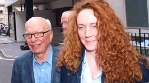 Rupert Murdoch dan Rebekah Brooks