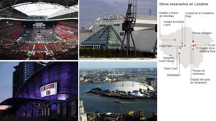 Wembley, Excel, Earls Court y O2