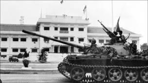 Soviet tanks in Saigon