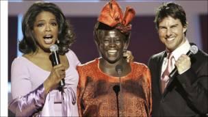 Oprah Winfrey,Profesa Maathai na Tom Cruise