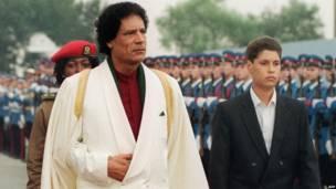 Gadafi con Seif al Islam