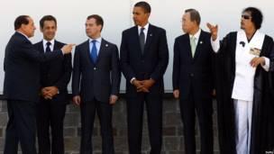 Gadafi en el G8