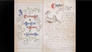 """Оригинальная рукопись """"Алисы в стране чудес"""""""