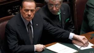 Berlusconi en 2011 en el parlamento