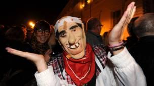 Máscara de Berlusconi