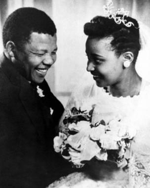नेल्सन और विनी की शादी ( फ़ोटो - रेक्स फ़ीचर्स )