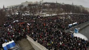 मॉस्को में विपक्ष की रैली
