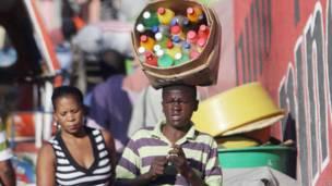 Vendedor callejero en Haití