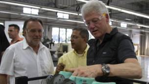 Mariano Fernández y Bill Clinton