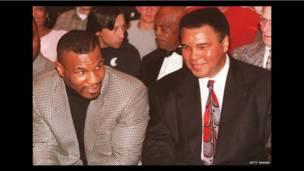 Mohamed Alí y Mike Tyson. Foto: Getty
