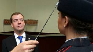 Медведев и форма МВД