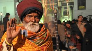 a sadhu from Brindaban, India