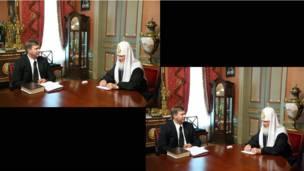 Часы на руке патриарха Кирилла