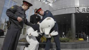 Протест против разработки месторождений нефти и газа в Арктике