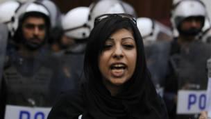 Zaynab -putri dari pegiat hak asasi manusia Abdulhadi al-Khawaja