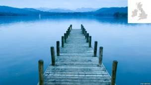 Lake District, Lake Windermere, Cumbria, England.
