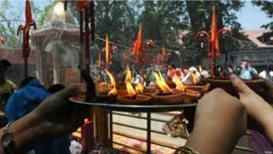 Праздник индуистов в Кашмире