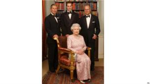 女王和丈夫、长子、长孙