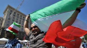 Pendukung Italia di Kiev, Ukraina