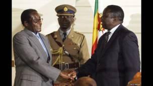 Robert Mugabe da Morgan Tsvangirai