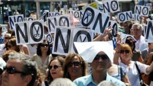 Демонстрация протеста в Мадриде