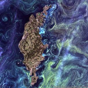 Gotland. Foto: NASA Goddard Space Flight Center / USGS