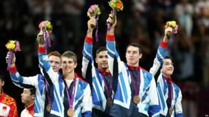 Equipo masculino británico de gimnasia artística