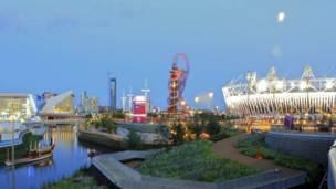 夜幕降臨的奧林匹克公園