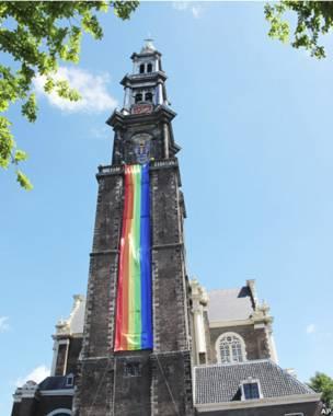 Desfile del orgullo gay en Ámsterdam.