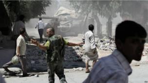 دبابة سورية في حلب