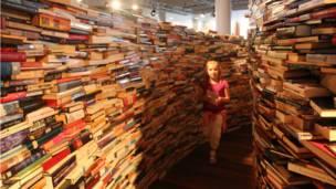 图书迷宫是由阿根廷作家J L Borges的作品启发而成。Borges的作品描绘了大量梦幻的、超现实的场景。