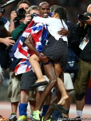 奧運奪金後的瞬間