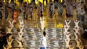 Các nghệ sỹ Brazil biểu diễn màn giới thiệu Rio 2016.