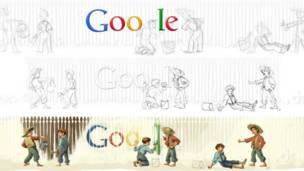 Заставка страницы Google