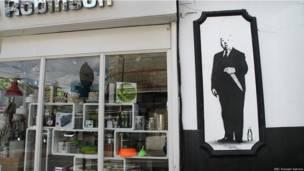 """Retrato de Sir Alfred Hitchcock"", autor desconhecido"