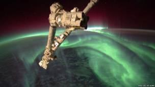 Aurora vista de cima. Nasa/ISS/Joe Acaba
