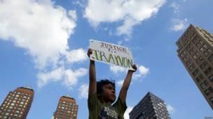 Niño pide justicia para Trayvon