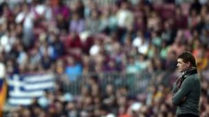 Vilanova durante un partido