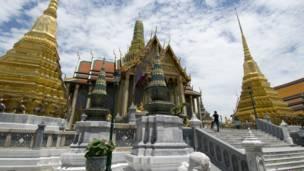 Prasart Phra Thep Bidorn (the Royal Pantheon), Bangkok, BBC image