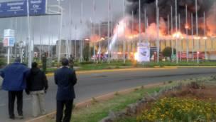 nairobi airpot closed due to huge fire